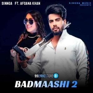Badmashi 2 lyrics
